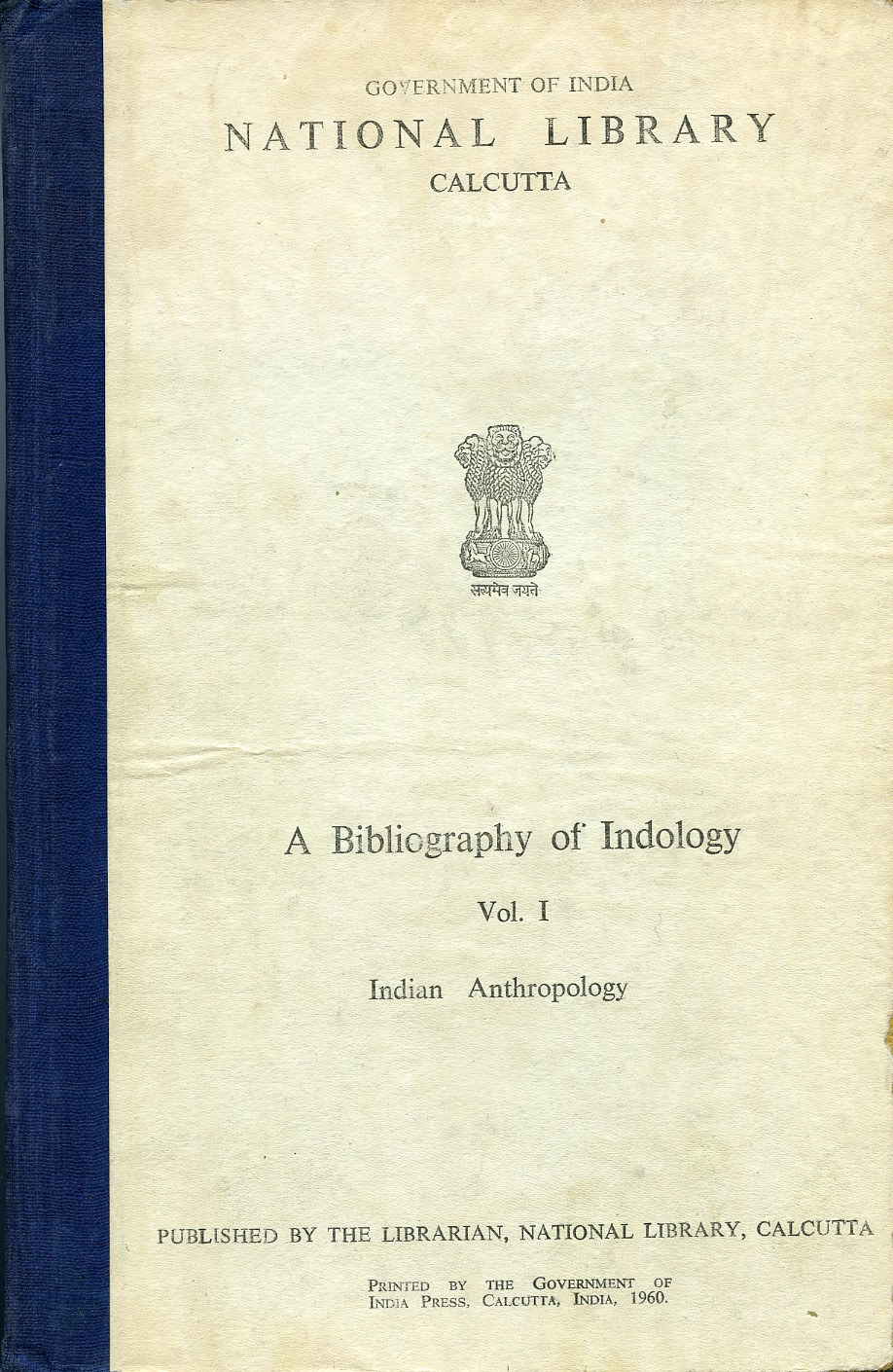 Copertina di A Bibliography of Indology
